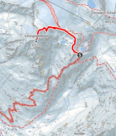 Karte / Schussgrubenkogel (3211) C2 Stubai NKBV