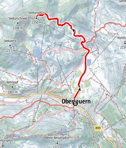 Karte / Seekarspitze