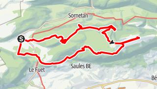 Map / PW Bellelay BE, 30 Km Strecke