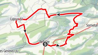 Map / PW Bellelay BE, 21 Km Strecke