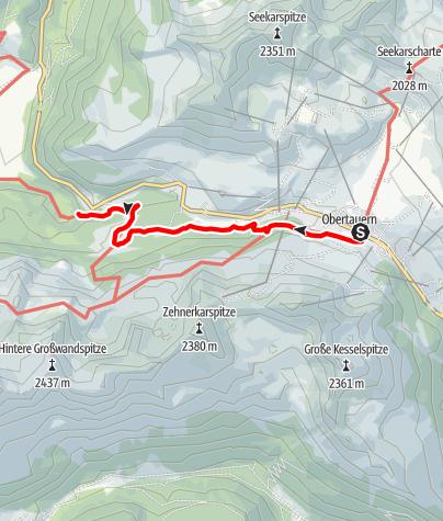 Karte / Johanneswasserfall
