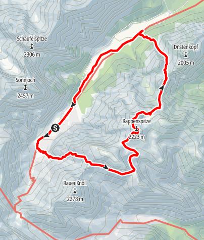 Karte / Rappenspitze