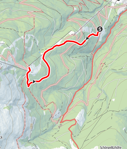 Karte / Tourenplanung am 4. August 2018