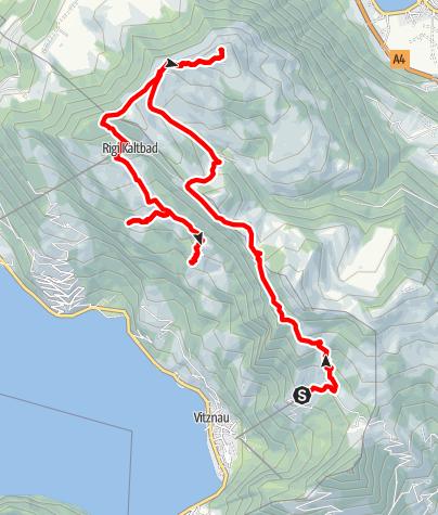 Karte / Hinterbergen-Rigigipfel-Felsetor-Freibergen