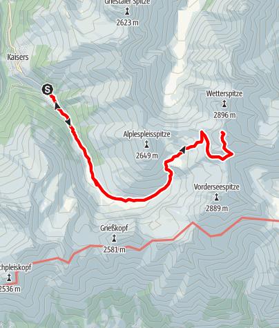 Karte / Von Kaisers auf die Feuerspitze