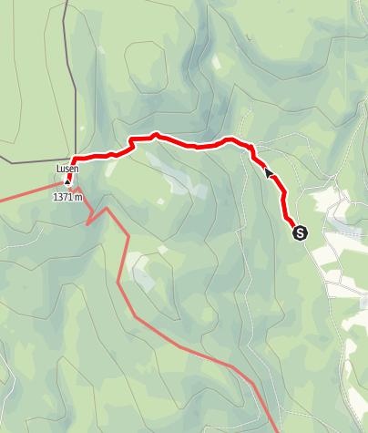Karte / TL Finsterau - Lusen