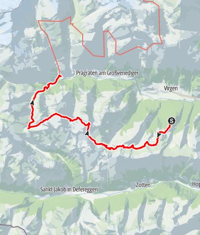Karte / 2018 - Hohe Tauern (Lasörlinger Höhenweg)