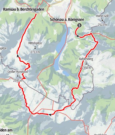 Map / Berchtesgadener Land Steinerne Meer