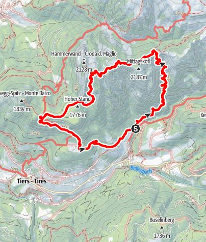 Karte / Anello Baerenfalle - Croda del Maglio