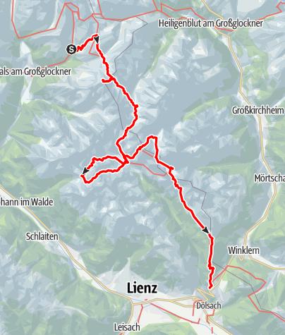 Karte / Hüttentour Schonergruppe