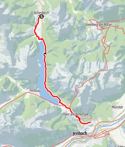 Karte / Wanderung von Achenkirch bis Wiesing
