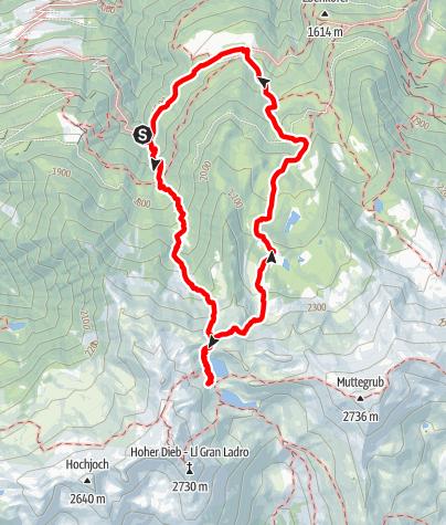 Karte / Zu den Kofelraster Seen
