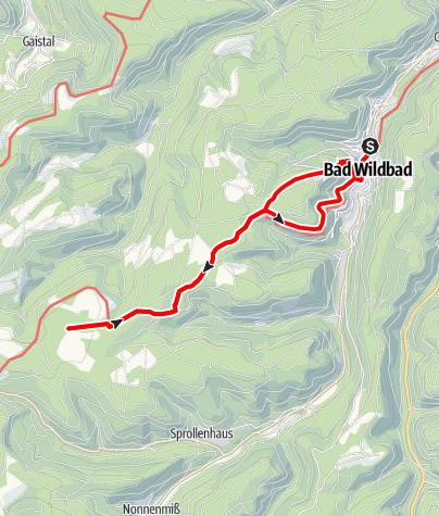 Karte / Bad Wildbald - Grünhütte - Wildsee Rundtour