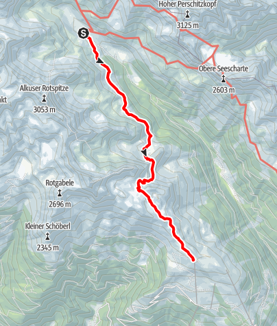 Karte / Alpenüberquerung Königssee / Lienz - Etappe 7: Lienzer Hütte - Neualplseen -  Steinermandl - Lienz