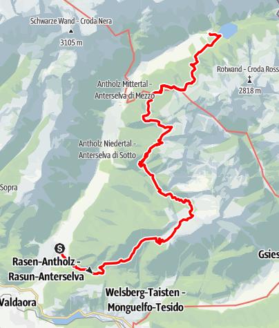 Karte / 11-HÜTTEN-TOUR - (11-Gipfel-Tour-Alternativstrecke)