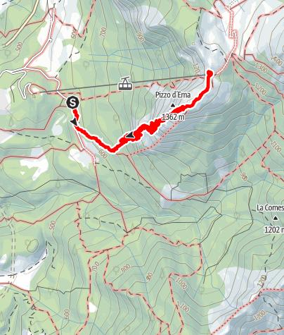Karte / Via Ferrata Pizzo d'Erna - Gamma 1