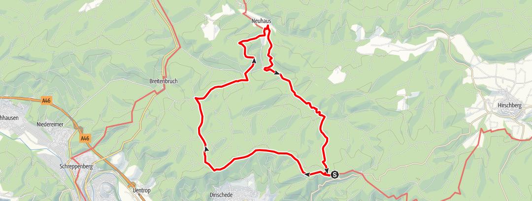 Karte / Lattenberg - Plackweg - Neuhaus - Lattenberg (über Waldroute)