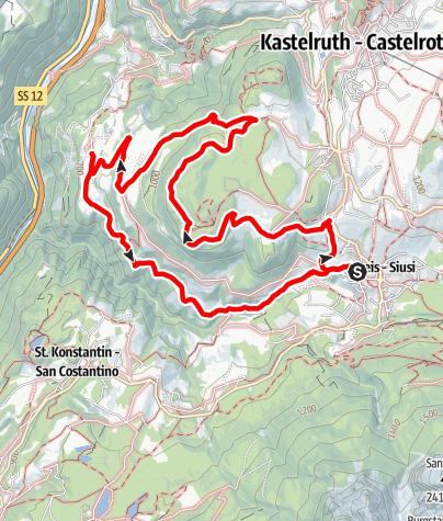 Karte / Über Laranz zum Törggelen nach St. Oswald