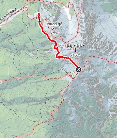 Karte / Von der Nördlinger Hütte nach Seefeld