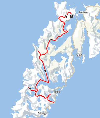 Karte / Wanderung Lofoten