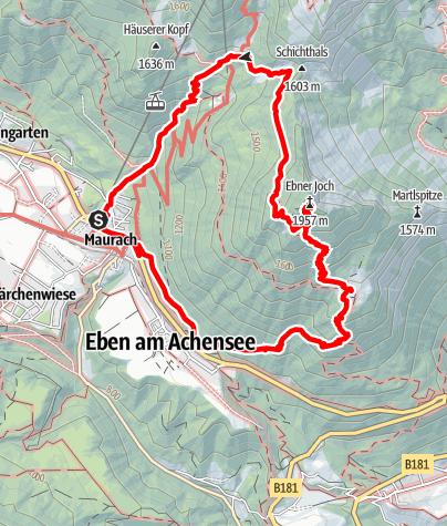 Karte / Maurach - Ebner Joch