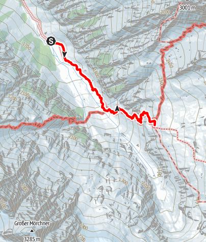 Karte / Greizer Hütte Aufstieg