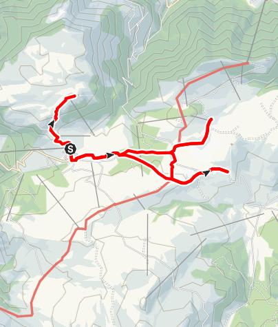 Karte / Kompatsch-Sanon Hütte-Tschötsch Alm
