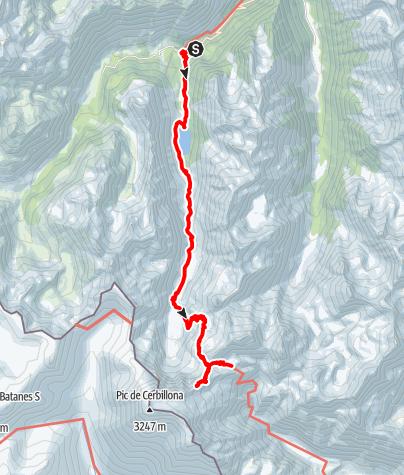 Karte / Petit Vignemale 3032m, Pyrenäen 1