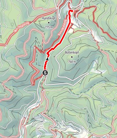 Karte / Allerheiligen-Wasserfälle von unten bis zur Klosterrune und zurück