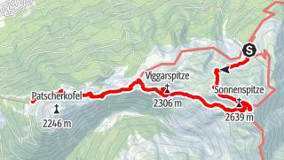 Karte / Über Glungezer und Viggarspitze zum Patscherkofel