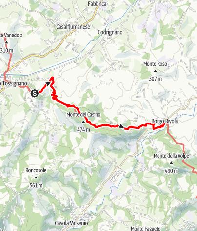 Karte / Graz - Rom 30 Tossignano-Borgo Rivola