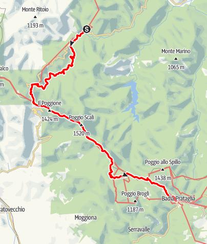 Karte / Graz - Rom 36 Corniolo-Badia Prataglia