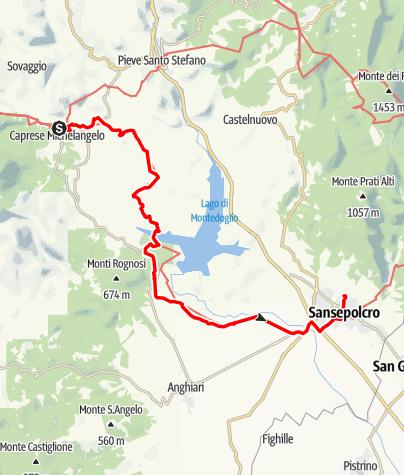 Karte / Graz - Rom 39 Caprese Michelangeo-Sansepolcro