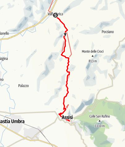 Karte / Graz - Rom 44 Valfabbrica-Assisi