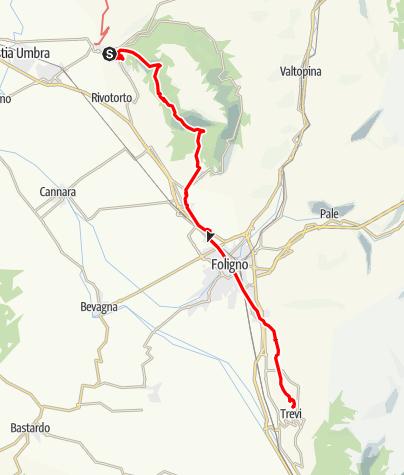 Karte / Graz - Rom 45 Assisi-Trevi