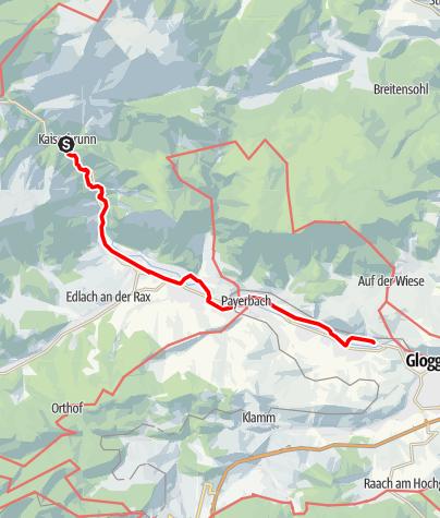 Karte / Gutes Wandern ist besser - Wasserleitungswanderweg ab Kaiserbrunn