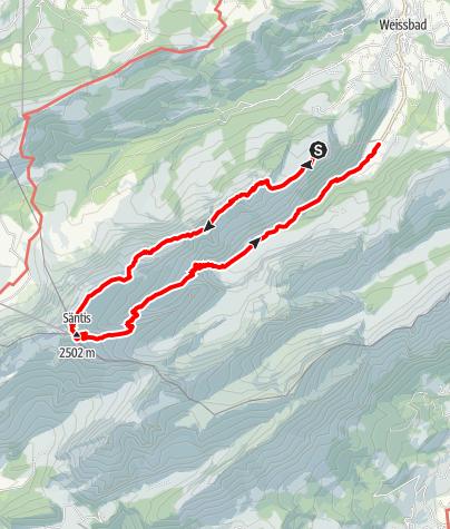 Karte / Von der Ebenalp auf den Säntis