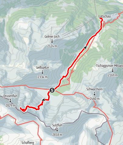 Karte / Drei Türme - Großer und Mittlerer Turm