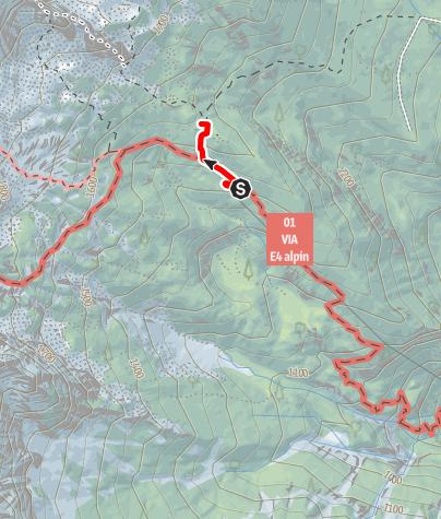 Karte / Blosskogel (1530m) vom Prielschutzhaus