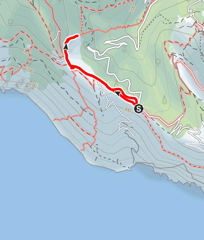 Karte / Bocca dei Cavalin (351 m) - Campiglia (401 m)