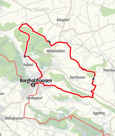 Map / B+H-2018-11-29: Borgholzhausen zum Haus Brinke
