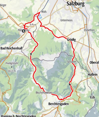 Karte / Piding Untersbergrunde