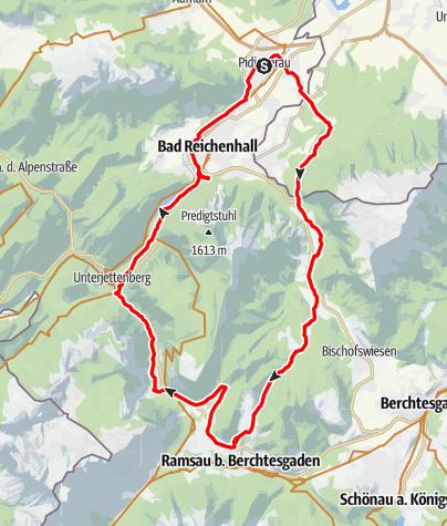 Karte / Piding Loipl .. Schwarzbachalm