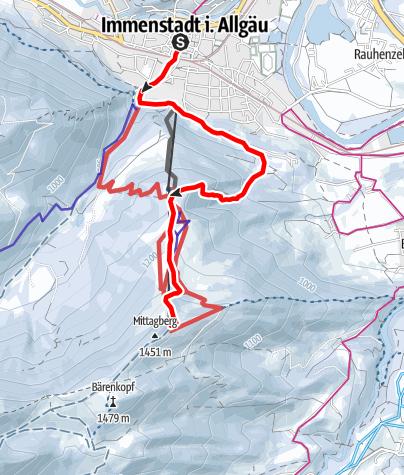 Karte / Mittag-Race 2019