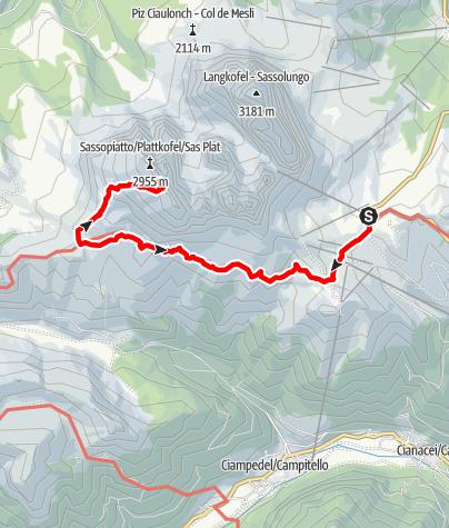 Karte / BB2019-06 Beklimming van de Plattkofel