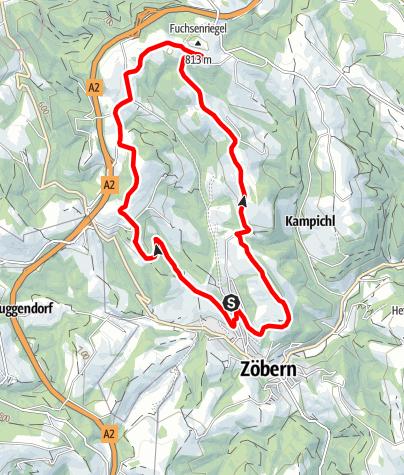 Karte / Dreihuegellauf Zöbern