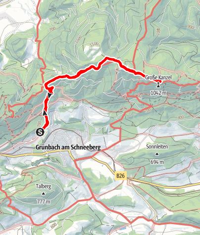Karte / Eicherthütte 15.12.2018