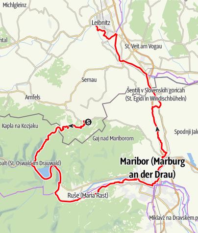 Karte / Wein und Winzer, Variante über Maribor