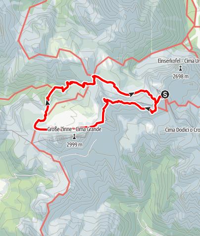 Map / Paternkofel Klettersteig und Drei-Zinnen-Rundweg ab Büllelejochhütte