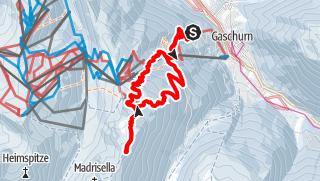 Karte / Pistentour bis Versettla